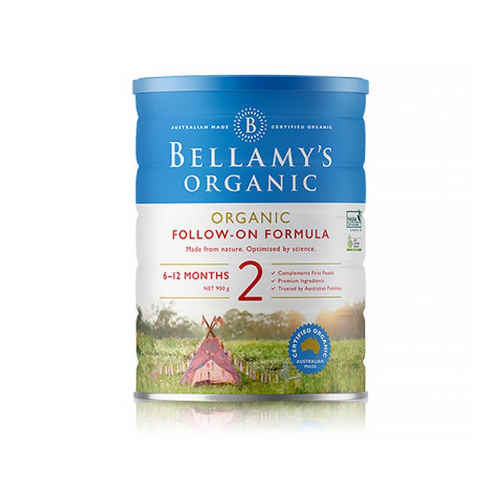 【包邮】贝拉米Bellamy有机婴儿奶粉二段6罐